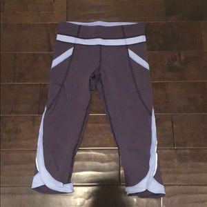 Lululemon purple and blue cropped legging